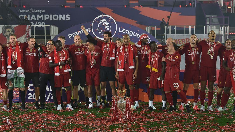 """Liverpool players sing """"You'll Never Walk Alone"""" in 2020"""