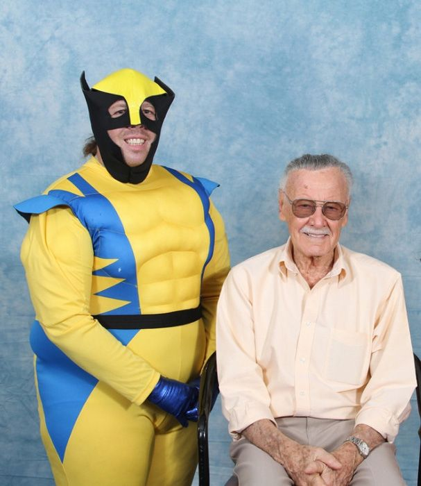 Someone is getting their monies worth out of the '$10 for a picture with Stan Lee' booth. And it isn't Stan Lee.