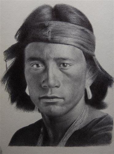 Navajo boy - Original Fine Art for Sale - © Jonathan Aller
