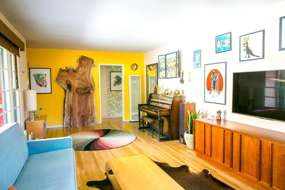 James Carly S Colorful West La Home Apartment Therapy Living Room Small Living Room Decor Home