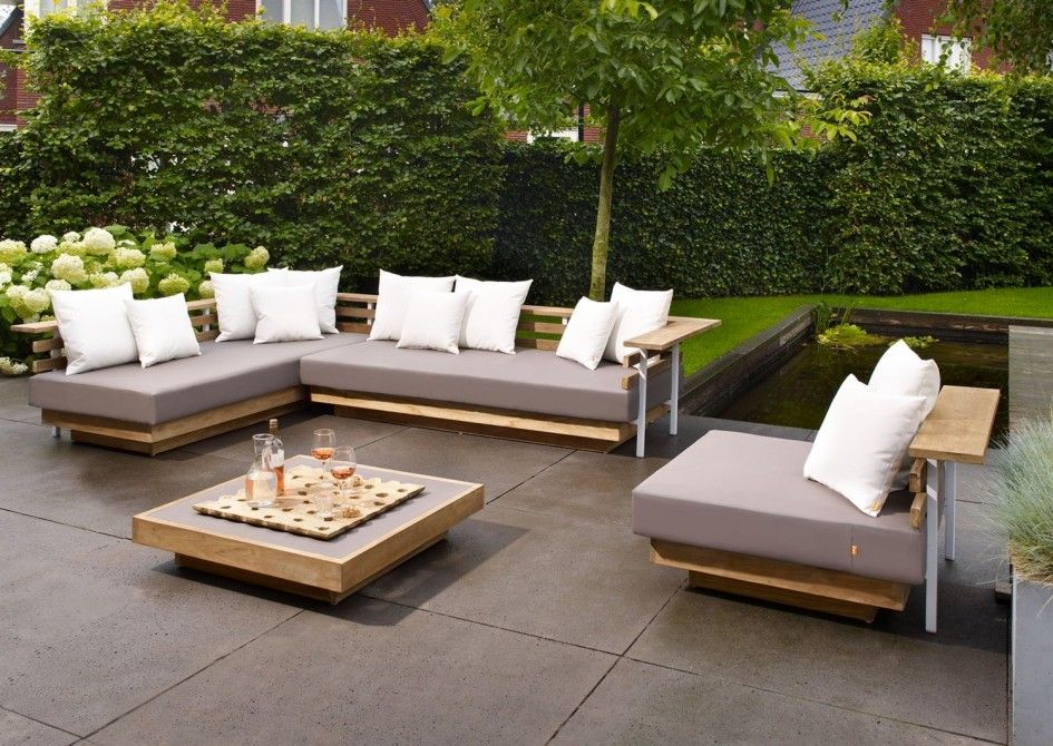 Innovative patio pads for chairs and low profile modern for Patio lounge sets