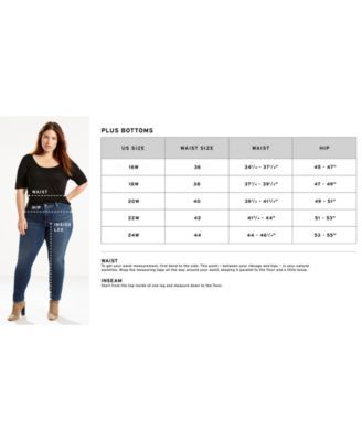 Levi S Trendy Plus Size 311 Shaping Skinny Jeans Reviews Jeans Plus Sizes Macy S Plus Size Skinny Jeans Jeans Size Chart Plus Size Boyfriend Jeans