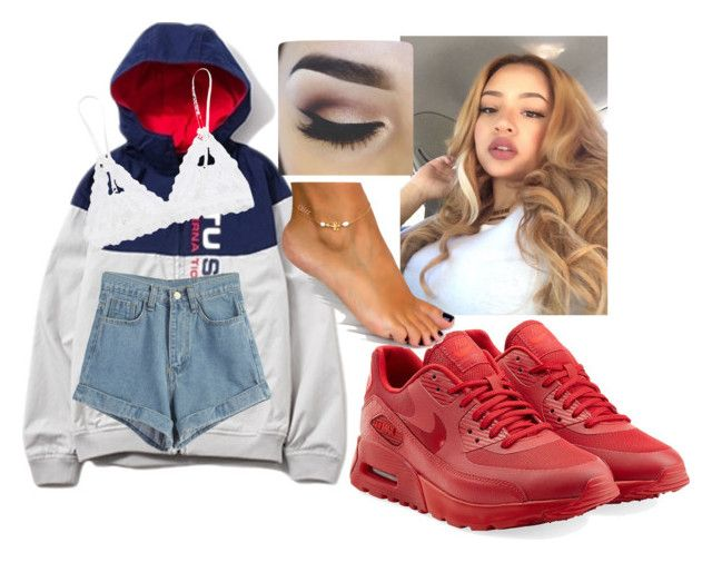 """""""Play No Games.."""" by jada-montiesh ❤ liked on Polyvore featuring NIKE, Stussy, WithChic, Hanky Panky, women's clothing, women, female, woman, misses and juniors"""