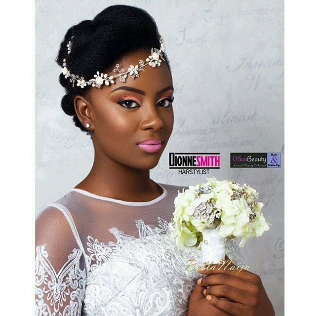 Hairstyles For Wedding Parties: Natural Hair Bride Inspirationmua @obanbeauty Hair Stylist