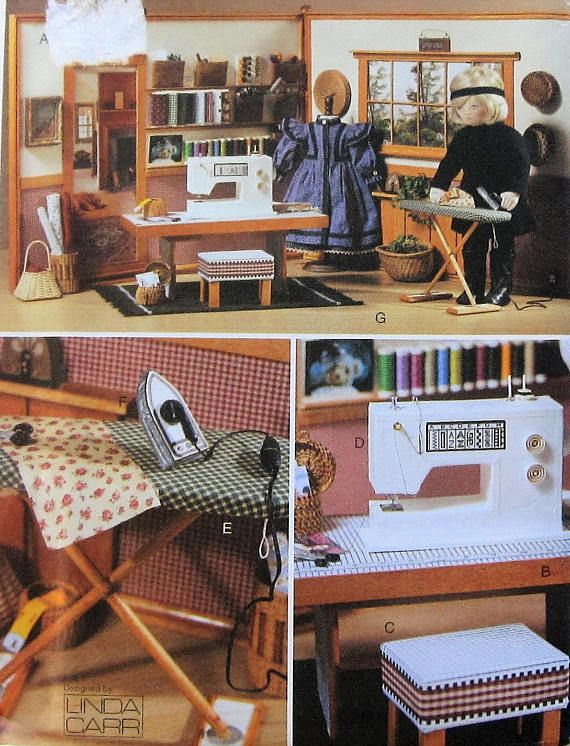Doll Sewing Room Pattern UNCUT Vogue 7786  18 doll