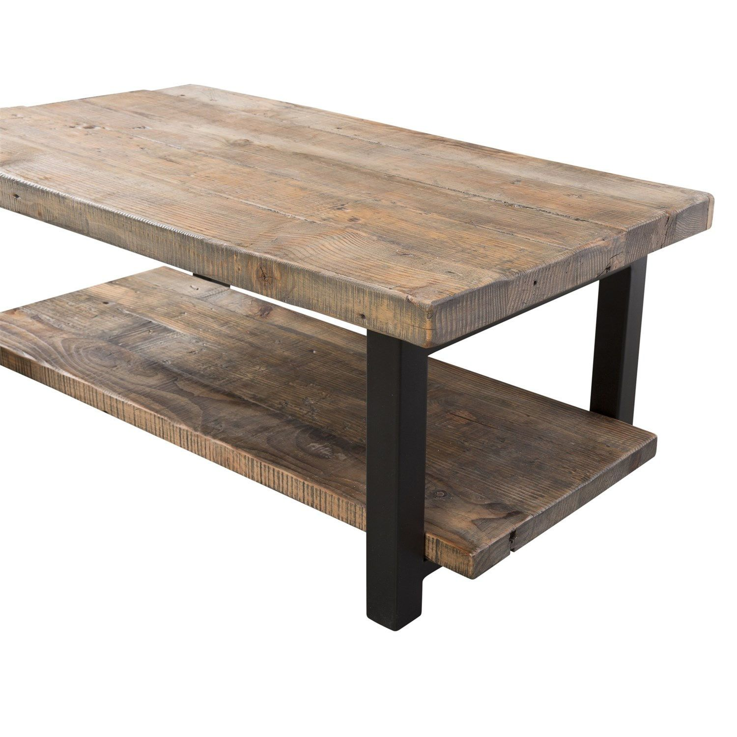 Alaterre Amba1120 Pomona Coffee Table In Rustic Natural With