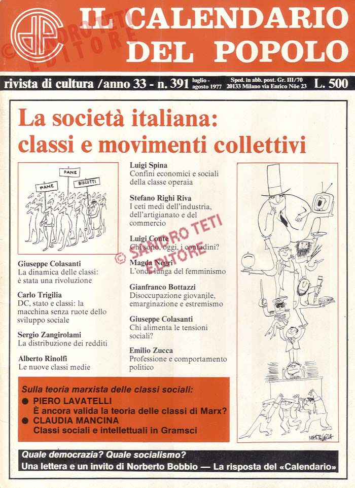 Calendario Del 1977.Il Calendario Del Popolo N 391 1977 Il Calendario Del
