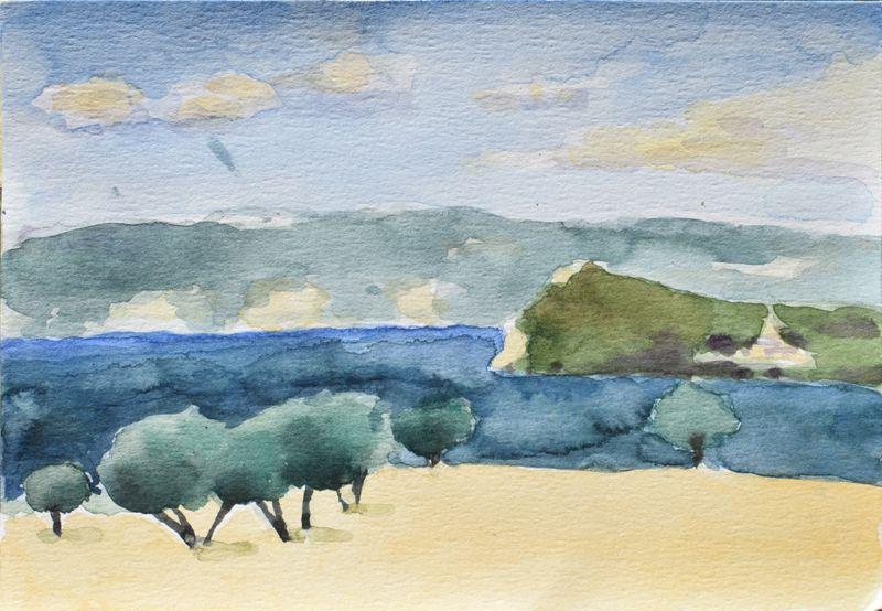 Anthony Lombardi  Capodimonte 01 watercolour on paper 2016 26 x18 cm.