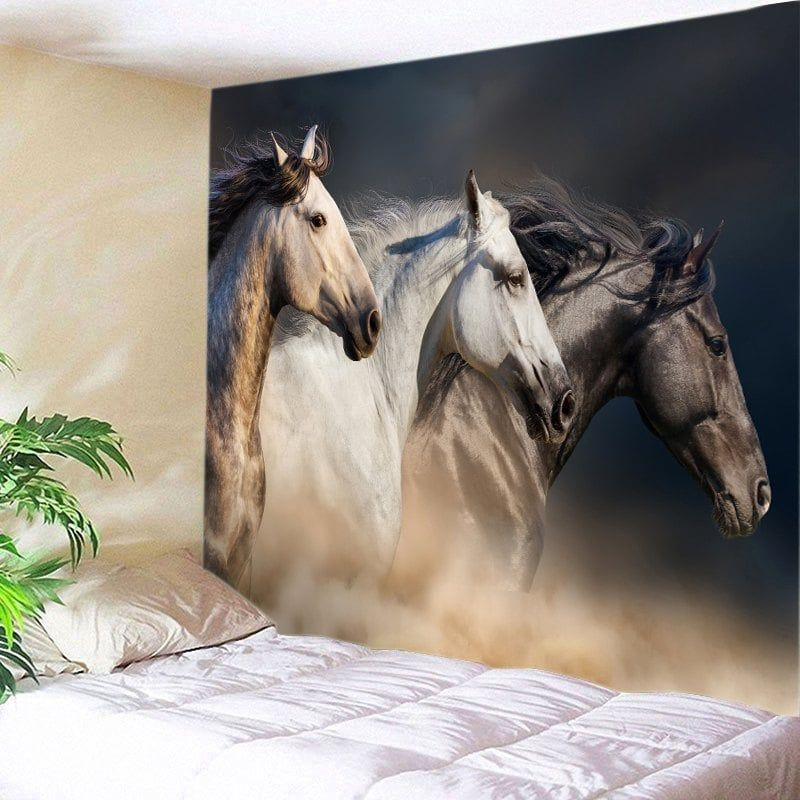 horses print tapestry wall hanging decor printed on walls coveralls website id=68236