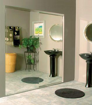 Frameless Aluminum Sliding Mirror Doors