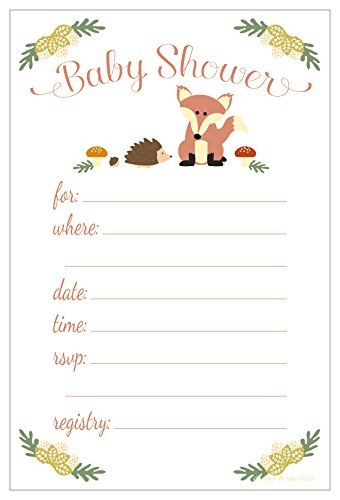 graphic relating to Free Printable Woodland Baby Shower Invitations known as Printable Boy or girl Shower Invitation Templates - Free of charge shower