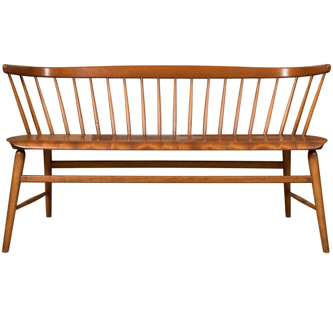 1960s-1970s Scandinavian Deacon Bench Teak & Walnut ***Saturday