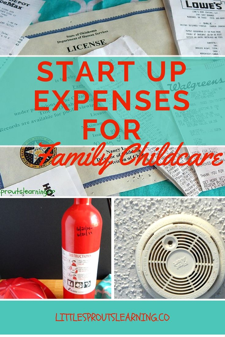 Startup Expenses for Home Daycare Family child care