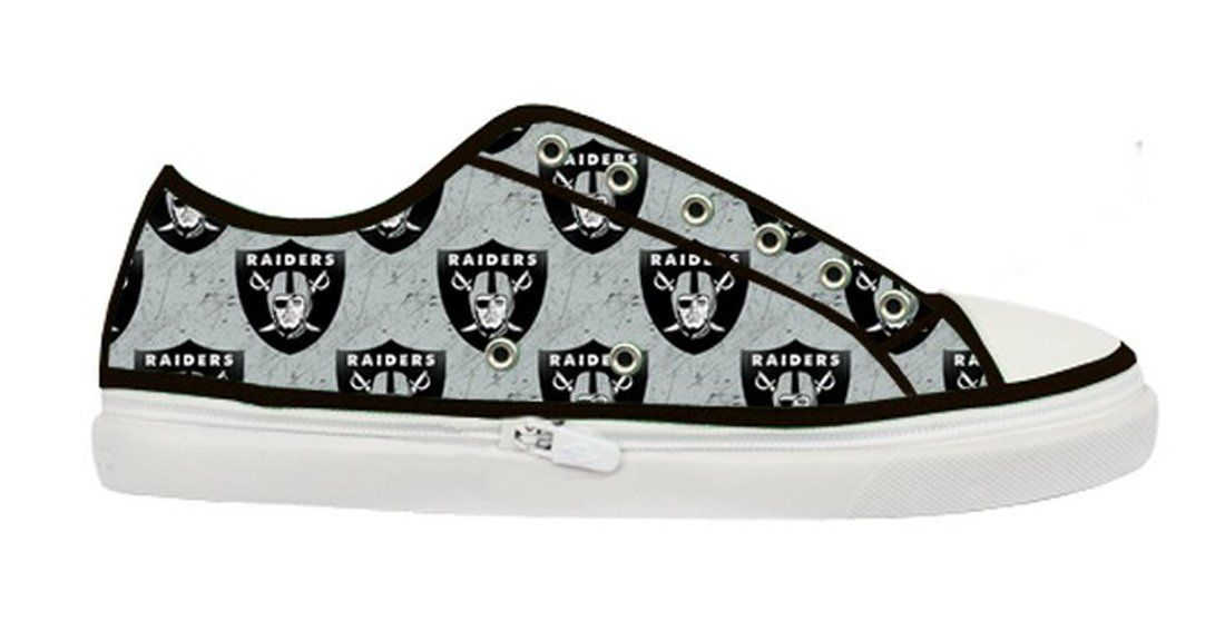 168bf44ad08d0 Amazon.com: Oakland Raiders Team Logo Men's Nonslip Canvas Shoes ...