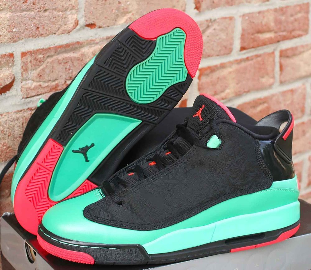 Nike Air Jordan Dub Zero GG Size 7.5Y Black Infrared 23-Verde 725742-035   Jordan  BasketballShoes 1c4d75ed4