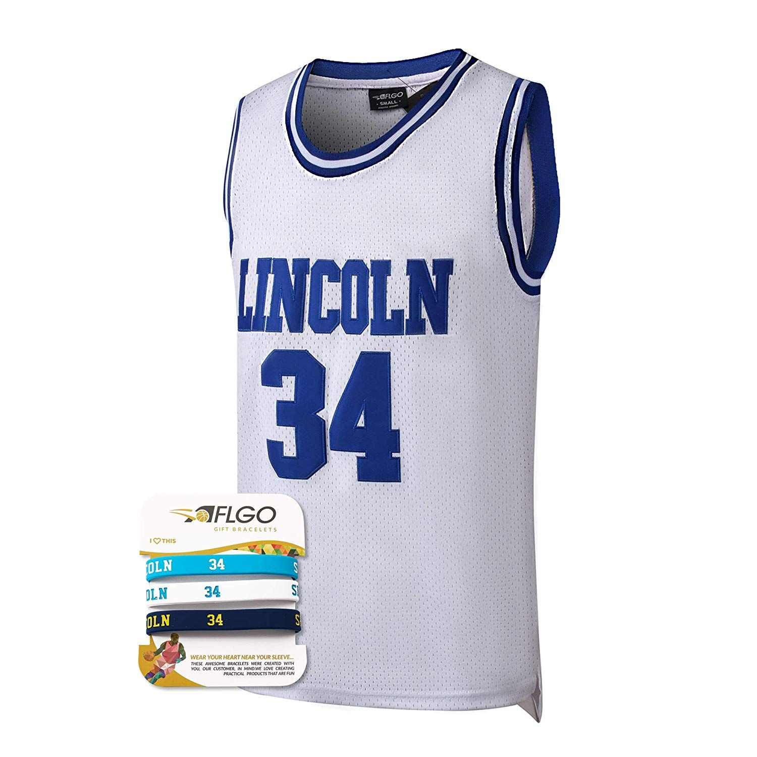 Lincoln #34 Jesus Shuttlesworth He Got Game Basketball Jersey Blue all stitched