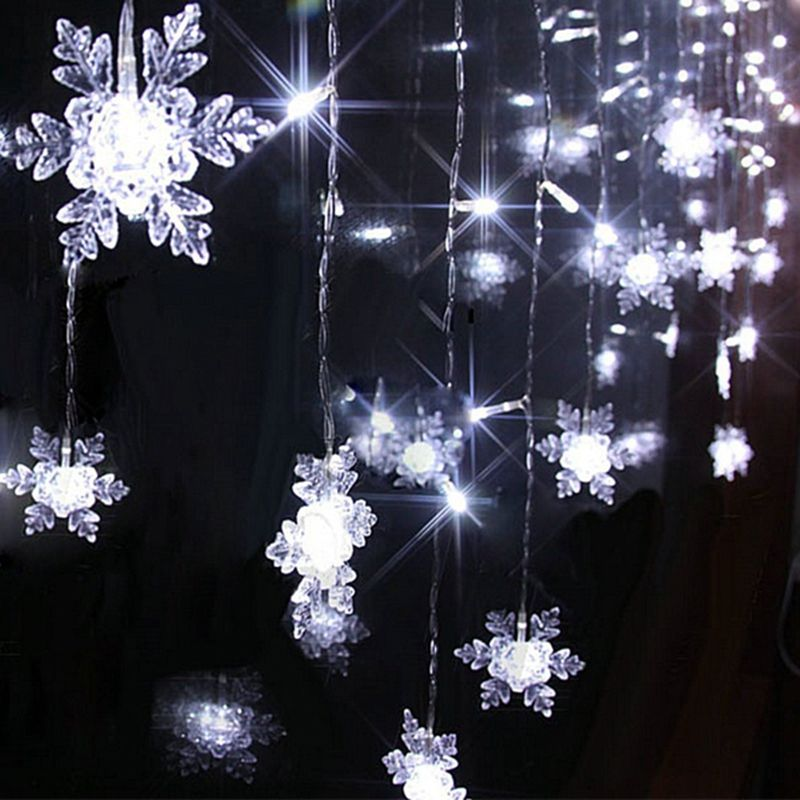 Solar String Lights Home Depot Adorable Wholesale 220V 2*06M 60Leds Led Snowflake Curtain Lights For Xmas Design Ideas