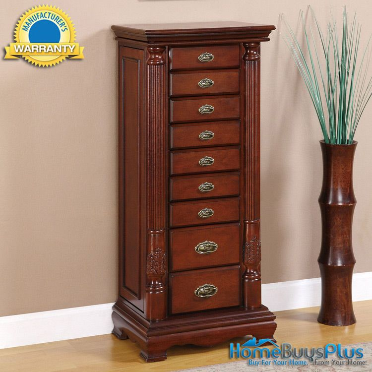 Powell Heirloom Cherry Jewelry Armoire Cabinet 45500 Jewelry