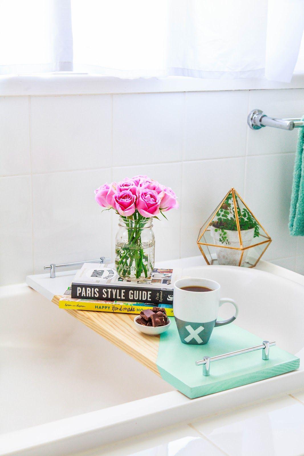 DIY: geometric bath shelf
