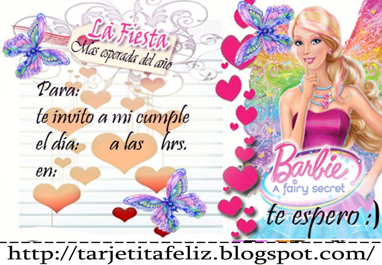 Invitaciones De Cumpleaños De Barbie Wallpaper En Hd Gratis 5 en HD Gratis Proyectos que