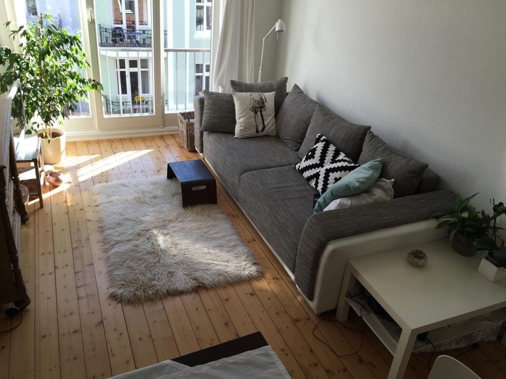 Gemütliches Sofa Wohnzimmer helles gemütliches hamburger wohnzimmer mit holzdielenboden und