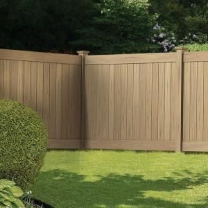 Veranda Linden 6 Ft H X 8 Ft W Cypress Vinyl Privacy Fence Panel Kit 73014524 The Home Depot Privacy Fence Panels Fence Landscaping Backyard Fence Decor