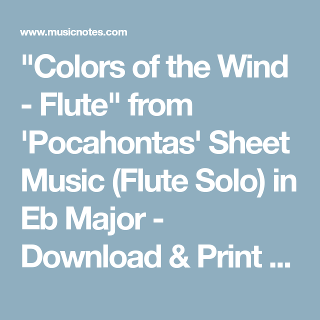 Colors of the Wind - Flute\