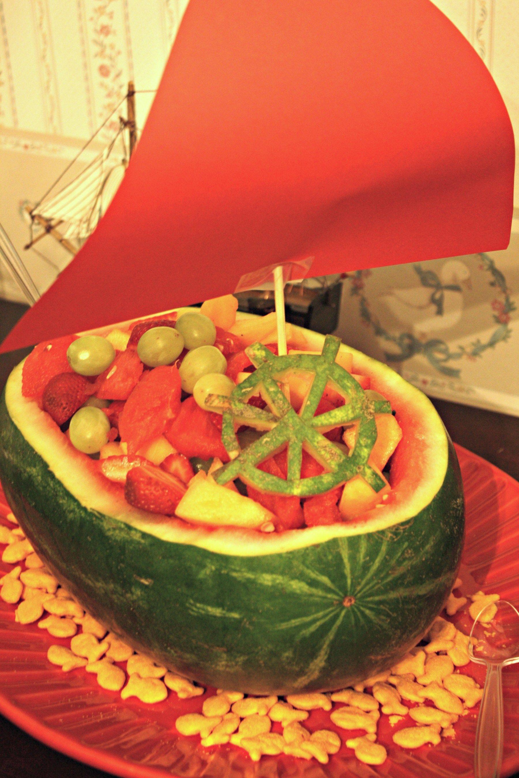 Watermelon Ship Fruit Bowl