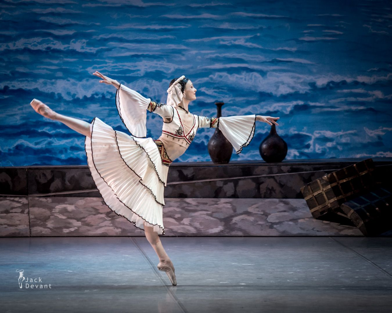 """Kristina Shapran as Medora in """"Le Corsaire"""" / Shot on 5.6.2014 at Mikhailovsky Theatre / Photo © Jack Devant / Kristina Shapran is graduated from the Vaganova State Academy of Russian Ballet in 2011. Soloist of the Stanislavsky Ballet Company since 2011, principal with Mikhailovsky since 2014."""