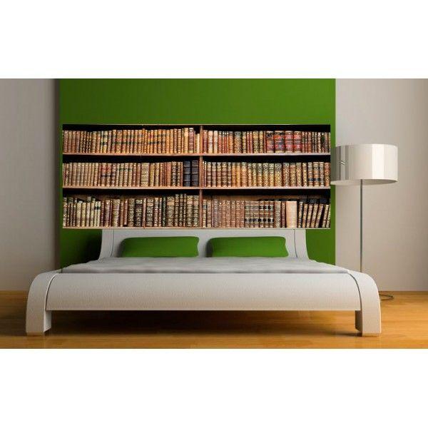 Stickers tête de lit Bibliothèque | Stickers tete de lit, Lit ...