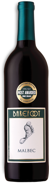 Barefoot Malbec - A plush red with flavors of blackberry and currant with a gust of vanilla, caramel and toasted oak.
