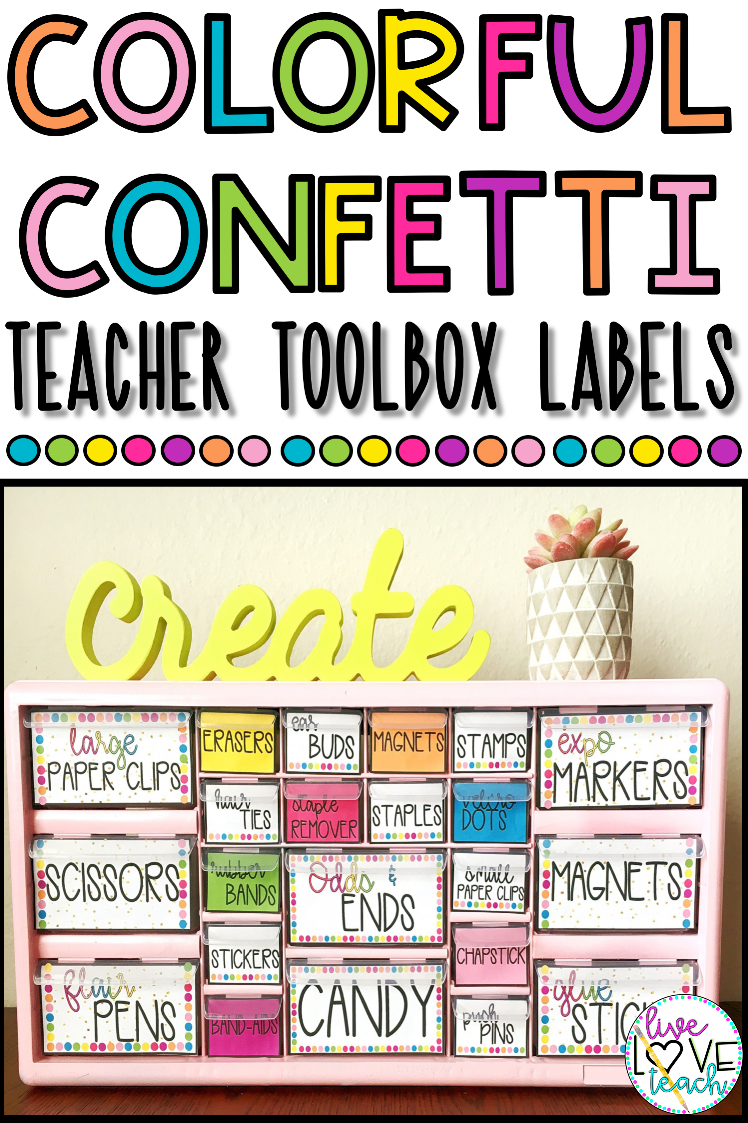 Editable Teacher Toolbox Labels Bright Colorful Confetti Teacher Toolbox Labels Teacher Toolbox Teachers Toolbox