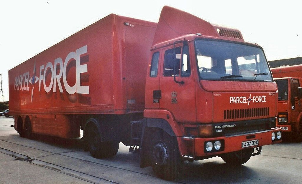 Parcelforce April 1993 Medium Trucks Delivery Companies Package Delivery