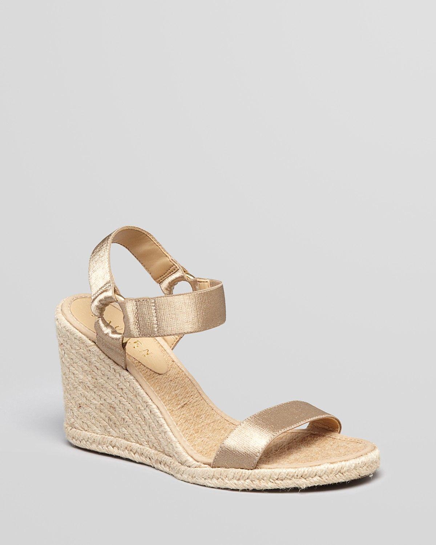 fff844daab3b Lauren Ralph Lauren Espadrille Platform Wedge Sandals - Indigo ...