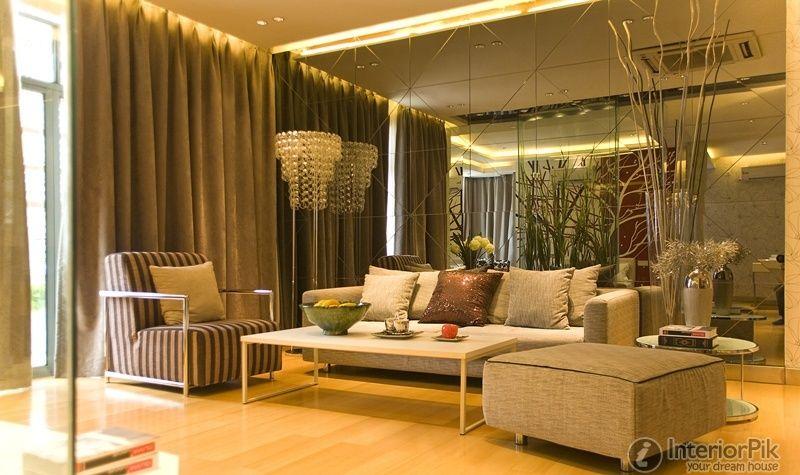 Large Wall Mirror Living Room Decorative Wall Clock Modern