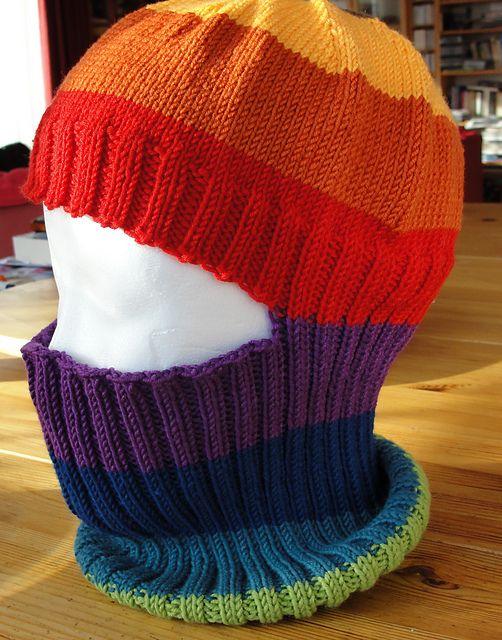 Colourful Annagret\'s Balaclava   knit free - hats   Pinterest ...