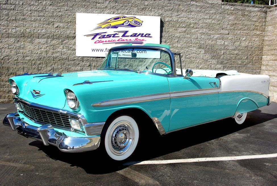 55 Chevy 427 Sale | 1956 Chevrolet Bel Air Convertible at Fast Lane Classic Cars