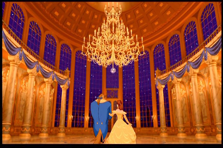 Castle Ballroom With Gold Chandelier From Disney S Beauty And The