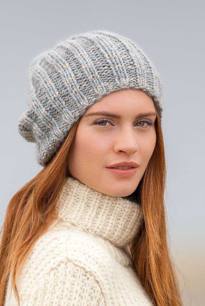 53efd1826508 Lana Grossa MÜTZE Alta Moda Cashmere 16 Degradé Silkhair Paillettes -  FILATI Handstrick No. 65 - Modell 15   FILATI.cc WebShop, knit hats, ribbing