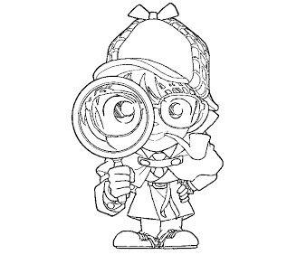 4 detective conan coloring page