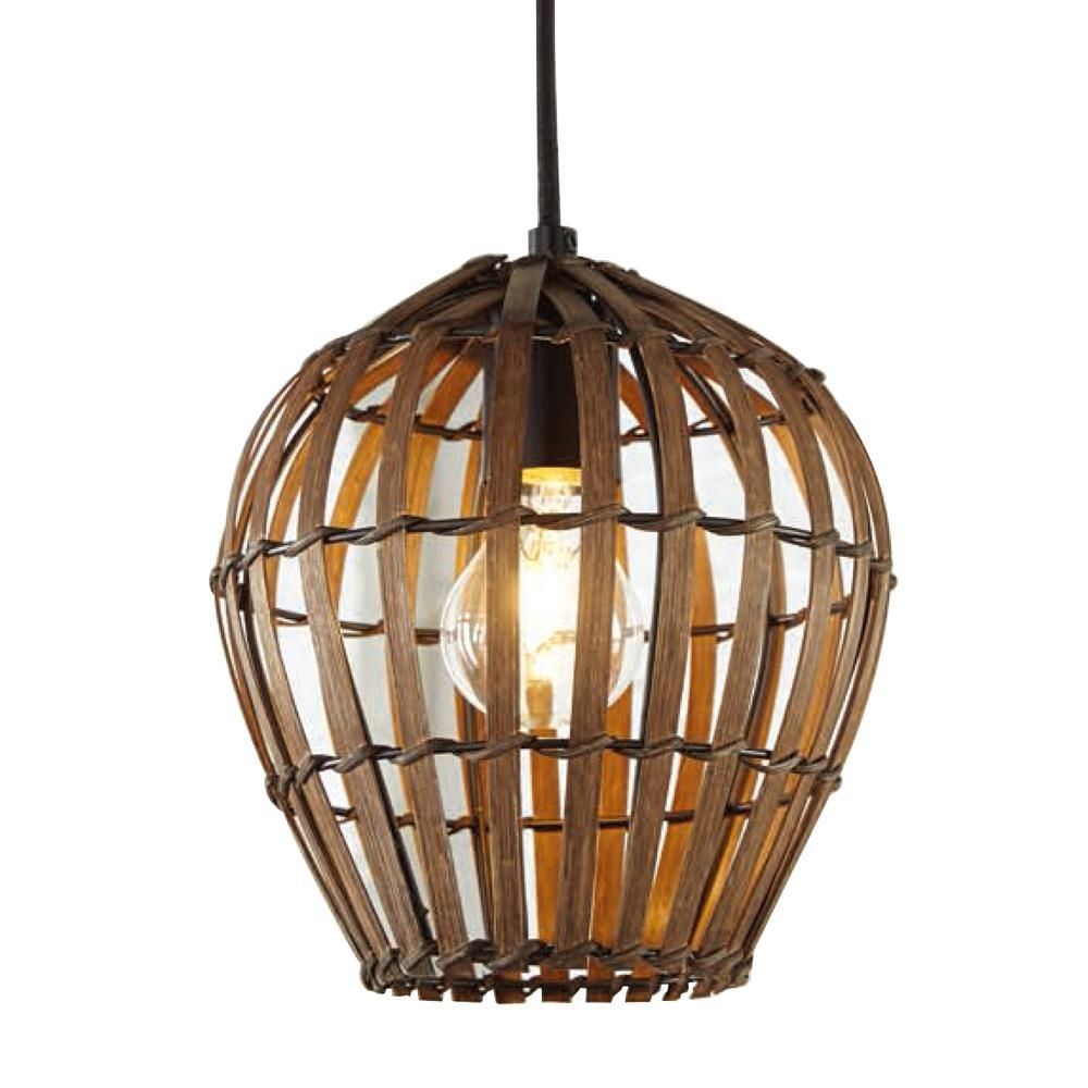 Home Decorators Collection 1 Light Bamboo Shade Mini Pendant Af47585 The Home Depot In 2020 Bamboo Shades Home Decorators Collection Vintage Bulb