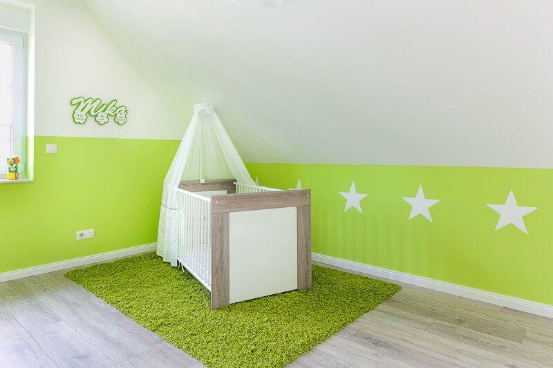 Babyzimmer Wandgestaltung grün - Wohnideen Interior Design - wohnideen amerikanisch