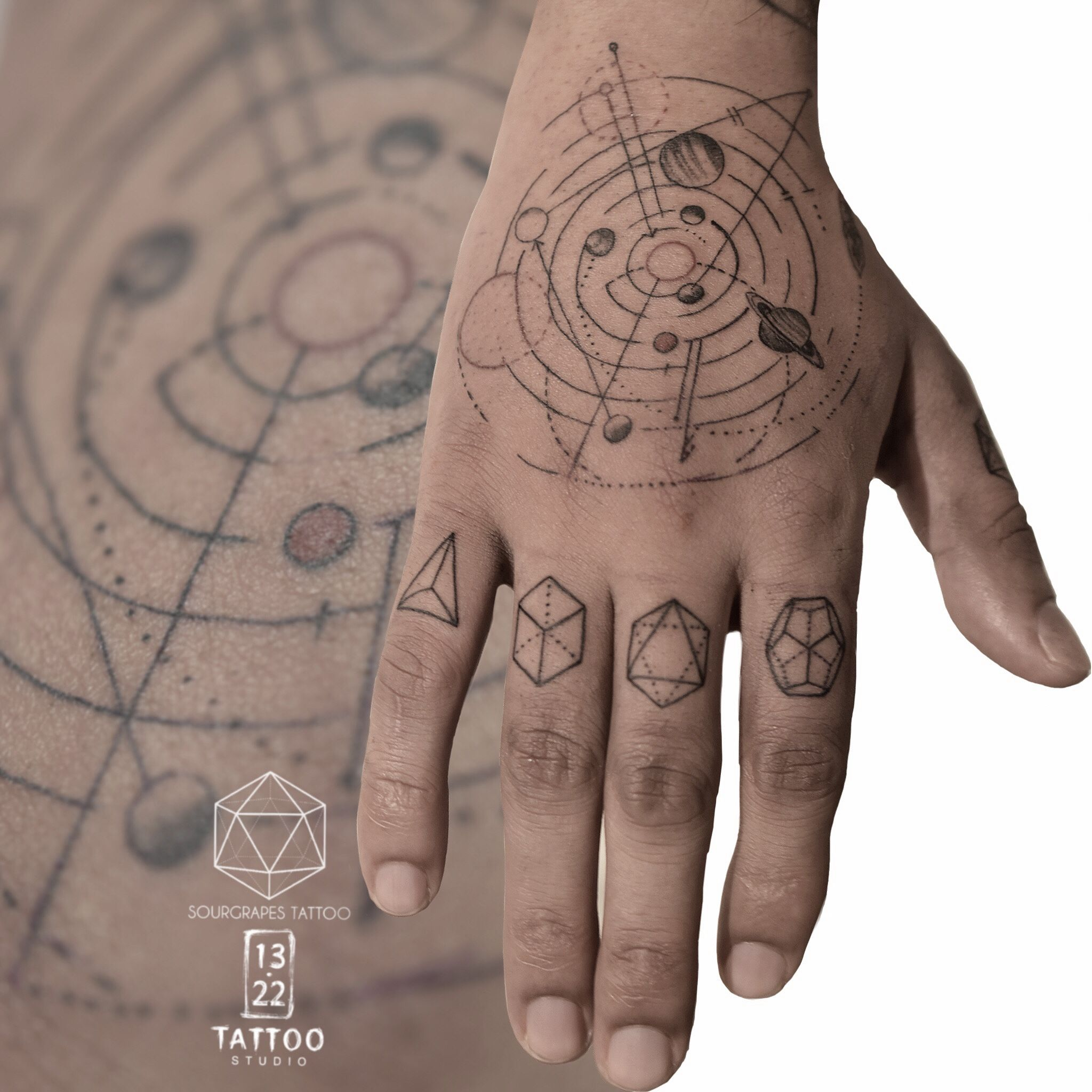 geometric tattoo artist uk