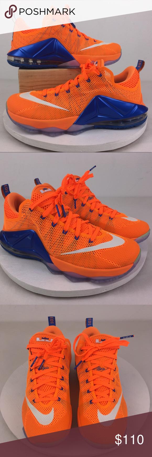 55a3ffa94d16 Nike LeBron 12 Low Orange Blue 10.5 724557-838 Brand new without original  box