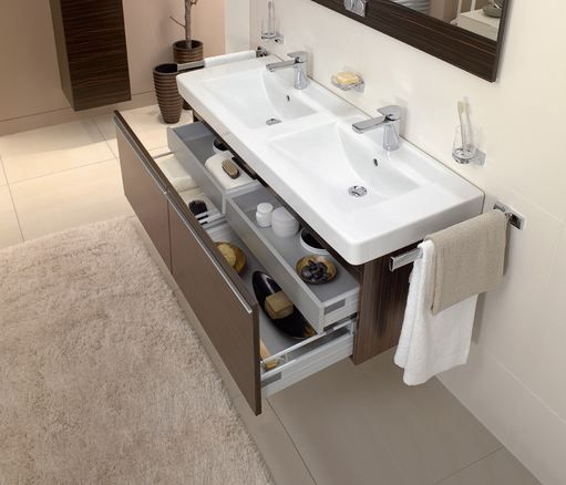 villeroy boch bathroom furniture subway basin with central line