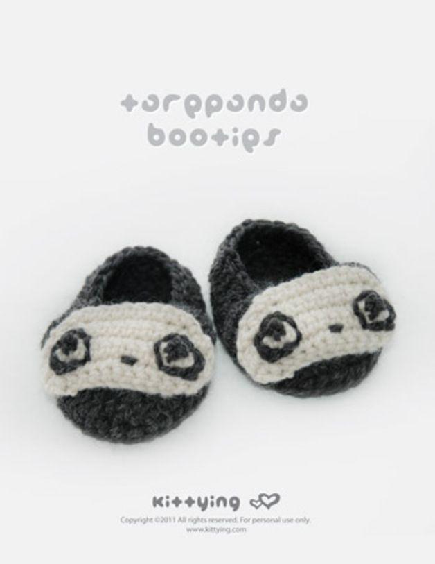 Tarepanda Baby Booties Häkelanleitung PDF made by Kittying Crochet ...