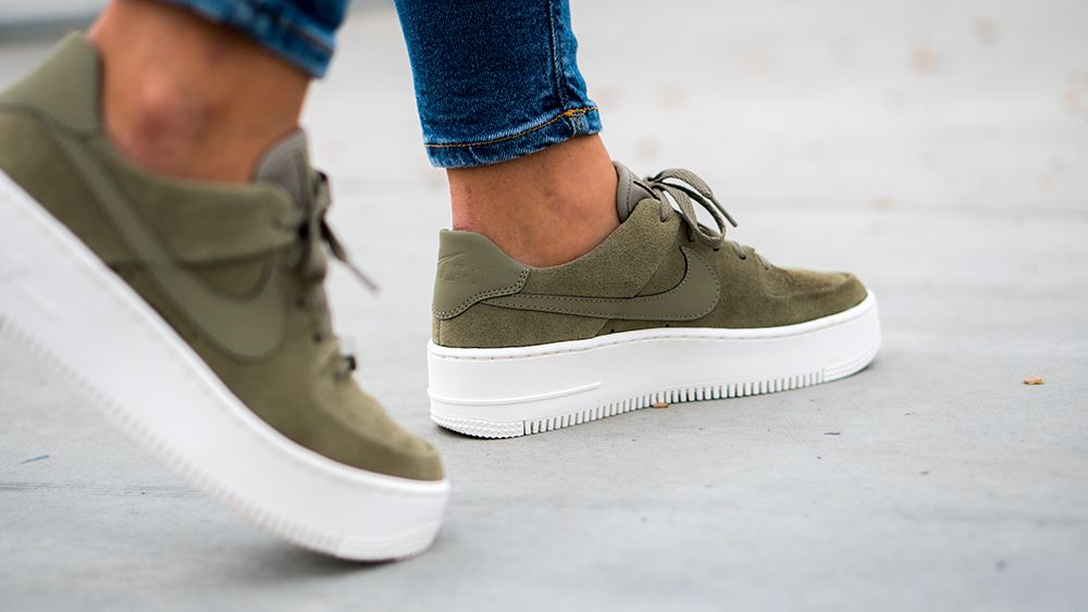 separation shoes 1f3a5 5cbab Nike air force 1 suede olive green