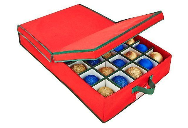 40-Count Under the Bed Ornament Box Until Next Year One Kings