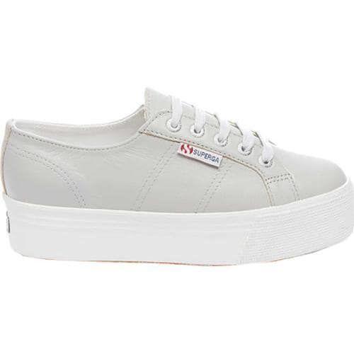 a0a0097292ab Women s Superga 2790 FGLW Platform Sneaker Grey Leather