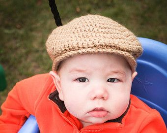 03b57ec00 Baby boy drivers hat for newborn photos --- scally cap, seamus ...